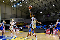 SANTA CRUZ, CA - JANUARY 22: Kiana Williams #23 goes to the basket during a game between UCLA and Stanford University at Kaiser Arena on January 22, 2021 in Santa Cruz, California.