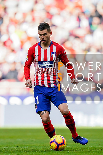Lucas Hernandez of Atletico de Madrid in action during the La Liga 2018-19 match between Atletico de Madrid and Deportivo Alaves at Wanda Metropolitano on December 08 2018 in Madrid, Spain. Photo by Diego Souto / Power Sport Images