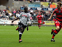 Pictured: Nathan Dyer of Swansea City in action <br />