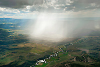 Rain shower western Colorado.
