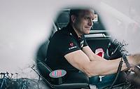Trek-Segafredo DS Steven de Jongh in the teamcar pre-race<br /> <br /> Trofeo Lloseta - Andratx: 140km<br /> 27th Challenge Ciclista Mallorca 2018