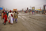 Heavy rainfall caused massive flooding in Allahabad for Kumbh Mela Festival