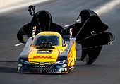 NHRA Mello Yello Drag Racing Series<br /> Mopar Mile-High NHRA Nationals<br /> Bandimere Speedway, Morrison, CO USA<br /> Saturday 22 July 2017 J.R. Todd, DHL, Camry, funny car<br /> <br /> World Copyright: Mark Rebilas<br /> Rebilas Photo