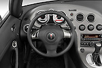 Steering wheel view of a 2008 Pontiac Solstice