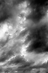 Stratocumulus opacus clouds threatening weather