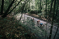 race leaders through the forest<br /> <br /> 97th Brussels Cycling Classic (1.HC)<br /> 1 Day Race: Brussels > Brussels (201km)
