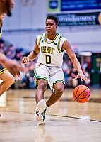 23 January 2019: University of Vermont Catamount Guard Stef Smith, a Sophomore from Ajax, Ontario, in first half action against the UMBC Retrievers at Patrick Gymnasium in Burlington, Vermont. The Catamounts fell to the Retrievers 74-61 who handed the Cats their first America East loss of the season. Mandatory Credit: Ed Wolfstein Photo *** RAW (NEF) Image File Available ***