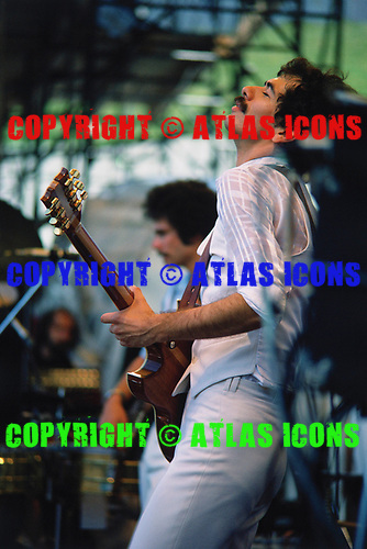 Carlos Santana, Day-on-the-Green, Oakland Coliseum July 1977<br /> Photo Credit: Baron Wolman\AtlasIcons.com