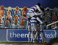 Queens Park Rangers players celebrates their first goal during Queens Park Rangers vs Watford, Sky Bet EFL Championship Football at The Kiyan Prince Foundation Stadium on 21st November 2020