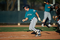 AZL Mariners Anthony Lepre (3) at bat during an Arizona League game against the AZL D-backs on July 3, 2019 at Salt River Fields at Talking Stick in Scottsdale, Arizona. The AZL D-backs defeated the AZL Mariners 3-1. (Zachary Lucy/Four Seam Images)