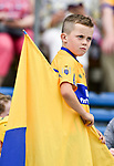 A young Clare fan before the All-Ireland semi-final replay against Galway at Semple Stadium,Thurles. Photograph by John Kelly.