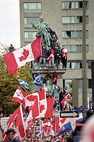 La campagne du NON durant le referen dum de 1995<br /> <br /> PHOTO : Agence Quebec Presse -<br /> MK