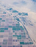California desert farm from air ATL-LAX by Art Harman