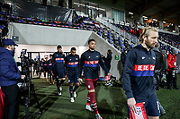 WIENER NEUSTADT, AUSTRIA - NOVEMBER 16: Tim Ream #13 and  Zack Steffen #1 of the United States walking out during a game between Panama and USMNT at Stadion Wiener Neustadt on November 16, 2020 in Wiener Neustadt, Austria.
