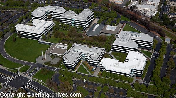 aerial photograph of Hacienda Business Park, Pleasanton, Alameda County, California