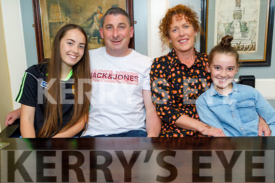 Lily Collins, Paudi O'Shea, Sharon Cregan and Erin Collins enjoying the evening in the Brogue Inn on Friday.