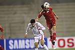 Syria vs Bahrain during the Olympic Qualifying 2012 Group C stage match on September 21, 2011 at the Prince Mohammed Stadium in Zarqa, Syria. Photo by World Sport Group