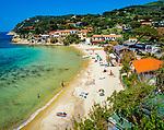 Italien, Toskana, Insel Elba, Blick auf den Golf und Strand von Biodola | Italy, Tuscany, island Elba, beach and Gulf of Biodola
