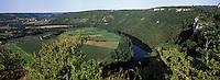Europe/France/Midi-Pyrénées/46/Lot/Montbrun: la vallée du lot vue depuis le Saut de la Mounine
