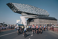 race start at the exceptional Antwerp Port-house by the British-Iranian architect Zaha Hadid<br /> <br /> 92nd Schaal Sels 2017 <br /> 1 Day Race: Merksem > Merksem (188km)