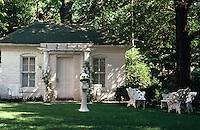 Louisiana:  Back yard of house.  Park-like setting.  Photo '77.