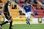 St Johnstone v Motherwell…08.08.21  McDiarmid Park<br />Liam Craig drags his shot wide<br />Picture by Graeme Hart.<br />Copyright Perthshire Picture Agency<br />Tel: 01738 623350  Mobile: 07990 594431