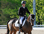 LEXINGTON, KY - APRIL 28: #6 Frankie and Ryan Wood from Australia in the warm up ring before their Dressage test in the Rolex Three Day Event, Dressage Day 1, at the Kentucky Horse Park in Lexington, KY.  April 28, 2016 in Lexington, Kentucky. (Photo by Candice Chavez/Eclipse Sportswire/Getty Images)