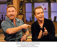 "©2001 KATHY HUTCHINS / HUTCHINS PHOTO. THE OTHER HALF, "" DAVID CASSIDY COHOSTS.LOS ANGELES , CA. 11/28/01. DANNY BONADUCE AND DAVID CASSIDY"