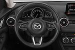 Car pictures of steering wheel view of a 2019 Mazda CX-3 Skycruise 5 Door SUV Steering Wheel