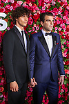 NEW YORK, NY - JUNE 10:  Miles McMillan (L) and Zachary Quinto attend the 72nd Annual Tony Awards at Radio City Music Hall on June 10, 2018 in New York City.  (Photo by Walter McBride/WireImage)