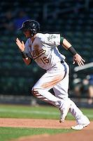 Mesa Solar Sox infielder Daniel Robertson (15) during an Arizona Fall League game against the Surprise Saguaros on October 17, 2014 at Cubs Park in Mesa, Arizona.  Mesa defeated Mesa 5-3.  (Mike Janes/Four Seam Images)