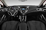 Stock photo of straight dashboard view of 2016 Hyundai Veloster 1.6-Manual 4 Door Hatchback Dashboard