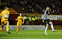 PARS ANDY KIRK SCORES DUNFERMLINE'S GOAL