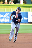 Justin Bour (41) of the New Orleans Zephyrs during the game against the Salt Lake Bees in Pacific Coast League action at Smith's Ballpark on August 27, 2014 in Salt Lake City, Utah.  (Stephen Smith/Four Seam Images)