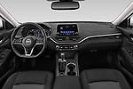 Stock photo of straight dashboard view of a 2020 Nissan Altima SL 4 Door Sedan