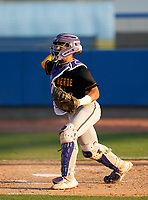 Montverde Academy Eagles catcher Salvador Alvarez (16) throws the ball down to third base during a game against the IMG Academy Ascenders on April 8, 2021 at IMG Academy in Bradenton, Florida.  (Mike Janes/Four Seam Images)