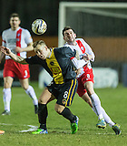 17.02.2015  Berwick Rangers v Spartans, Scottish Cup 5th Round Replay  ..................   LEE CURRIE AND JOHN GRANT BATTLE IT OUT