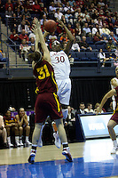 BERKELEY, CA - MARCH 30: Nneka Ogwumike posts up and hits a fade away during Stanford's 74-53 win against the Iowa State Cyclones on March 30, 2009 at Haas Pavilion in Berkeley, California.
