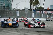 #30: Takuma Sato, Rahal Letterman Lanigan Racing Honda and #7: Felix Rosenqvist, Arrow McLaren SP Chevrolet