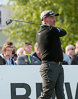 21.05.2015. Wentworth, England. BMW PGA Golf Championship. Round 1.  Darren Clarke [NIR] on the first tee. The first round of the 2015 BMW PGA Championship from The West Course Wentworth Golf Club
