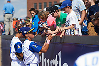 Wilmington Blue Rocks Nicky Lopez (7) signs autographs after first game of a doubleheader against the Frederick Keys on May 14, 2017 at Daniel S. Frawley Stadium in Wilmington, Delaware.  Wilmington defeated Frederick 10-2.  (Mike Janes/Four Seam Images)