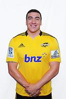 Jeffrey Toomaga-Allen. Hurricanes Super 15 official headshots at Rugby League Park, Wellington, New Zealand on Sunday, 9 December 2012. Photo: Dave Lintott / lintottphoto.co.nz