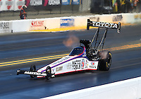 Jul. 26, 2014; Sonoma, CA, USA; NHRA top fuel driver Antron Brown during qualifying for the Sonoma Nationals at Sonoma Raceway. Mandatory Credit: Mark J. Rebilas-