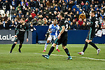 Leganes Claudio Beauvue fail goal vs Real Madrid during Copa del Rey  match. A quarter of final go. 20180118.
