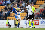 St Johnstone v Lask…26.08.21  McDiarmid Park    Europa Conference League Qualifier<br />Jason Kerr and Mamoudou Karamoko<br />Picture by Graeme Hart.<br />Copyright Perthshire Picture Agency<br />Tel: 01738 623350  Mobile: 07990 594431