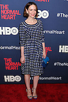 """NEW YORK CITY, NY, USA - MAY 12: Sarah Paulson at the New York Screening Of HBO's """"The Normal Heart"""" held at the Ziegfeld Theater on May 12, 2014 in New York City, New York, United States. (Photo by Celebrity Monitor)"""