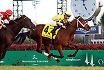 LOUISVILLE, KY -NOV 24: Lovely Bernadette (Florent Geroux) wins the 27th running of the G2 Mrs. Revere Stakes at Churchill Downs, Louisville, Kentucky. Owner James M. Miller, trainer James P. DiVito. By Wilburn x Inlovewithlove, by Bernstein. (Photo by Mary M. Meek/Eclipse Sportswire/Getty Images)