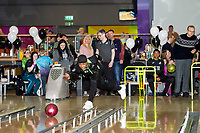 Pictured: Andre Ayew of Swansea City during the Swansea player and fans bowling evening at Tenpin Swansea, Swansea, Wales, UK. Wednesday 22 January 2020