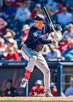 2 March 2019: Minnesota Twins first baseman Lucas Duda at bat during a Spring Training game against the Washington Nationals at the Ballpark of the Palm Beaches in West Palm Beach, Florida. The Twins fell to the Nationals 10-6 in Grapefruit League play. Mandatory Credit: Ed Wolfstein Photo *** RAW (NEF) Image File Available ***
