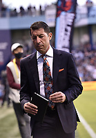 KANSAS CITY, KS - MAY 29: Houston Dynamo FC coach Tab Ramos heads to the locker room at half-time during a game between Houston Dynamo and Sporting Kansas City at Children's Mercy Park on May 29, 2021 in Kansas City, Kansas.